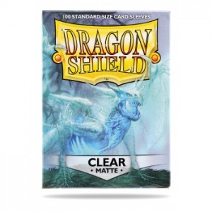Dragon Shield Sleeves - Matte Clear (100 Sleeves)