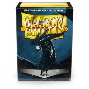 Dragon Shield Sleeves - Matte Jet (100 Sleeves)