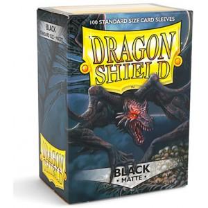 Dragon Shield Sleeves - Matte Black (100 Sleeves)