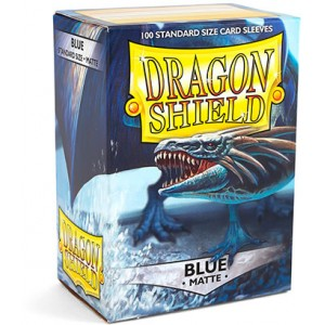 Dragon Shield Sleeves - Matte Blue (100 Sleeves)