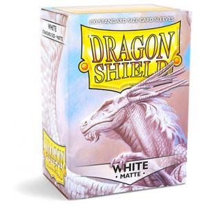 Dragon Shield Sleeves - Matte White (100 Sleeves)