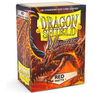 Dragon Shield Sleeves - Matte Red (100 Sleeves)
