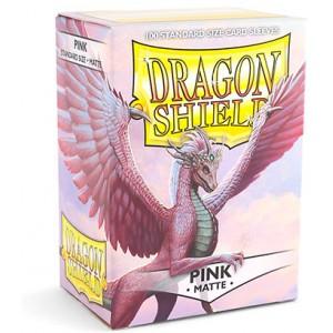 Dragon Shield Sleeves - Matte Pink (100 Sleeves)