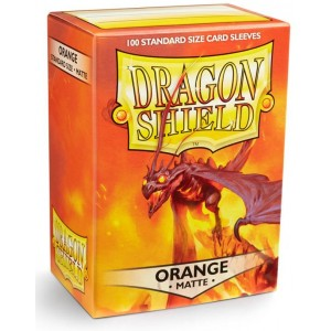 Dragon Shield Sleeves - Matte Orange (100 Sleeves)