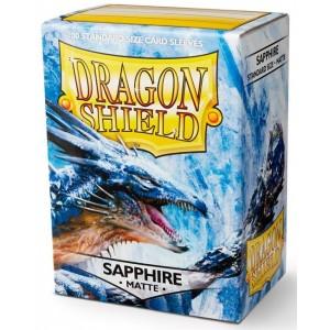 Dragon Shield Sleeves - Matte Sapphire (100 Sleeves)