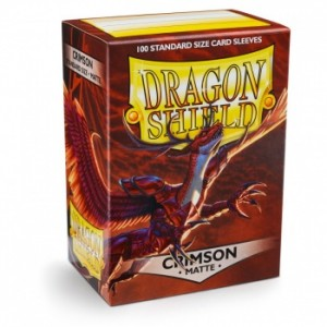 Dragon Shield Sleeves - Matte Crimson (100 Sleeves)