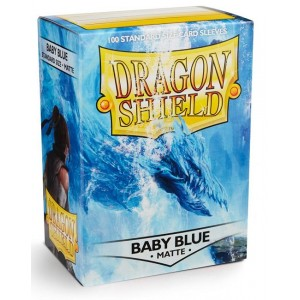 Dragon Shield Sleeves - Matte Baby Blue (100 Sleeves)