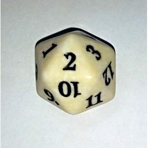 Počítadlo - Bílá kostka D20