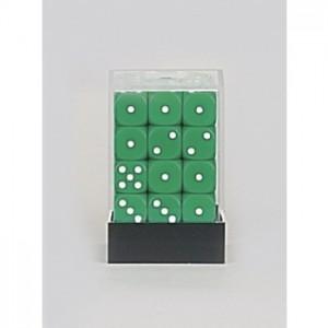 KG - Kostka zelená K6 / 12mm - Set 36 kusů
