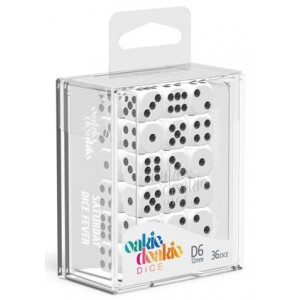 OD - Solid White D6 / 12mm - Set 36 kusů