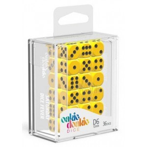 OD - Solid Yellow D6 / 12mm - Set 36 kusů