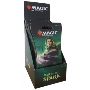 War of the Spark - Sleeved booster display