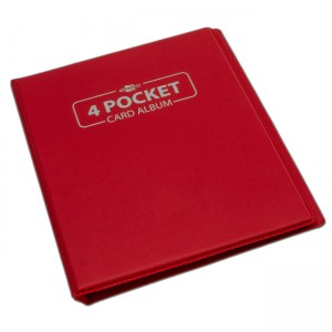 BF - 4 Pocket Card Album - Red